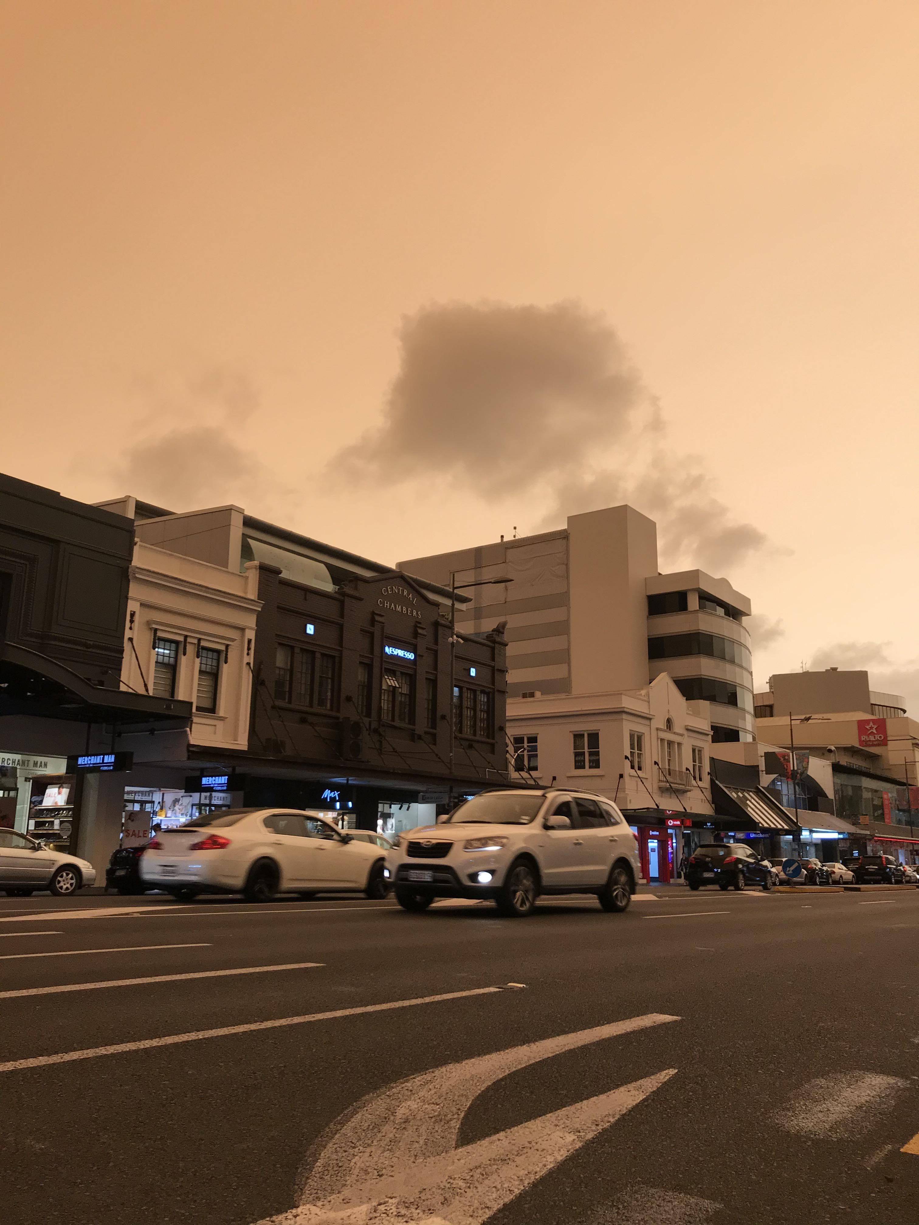 ITAP of smoke from Australian bush fires over Auckland NZ