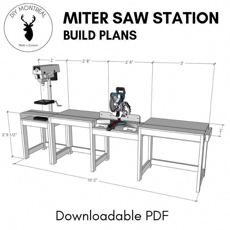 Miter Saw Station (plans Available): 10 Steps (with
