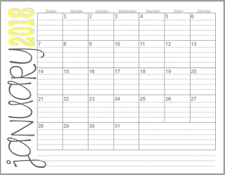 Free Printable  Monthly Calendar   Calendars