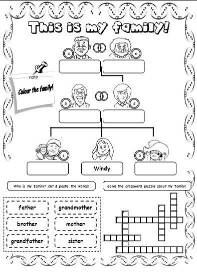 Imagen Relacionada Family Worksheet English Lessons English Activities