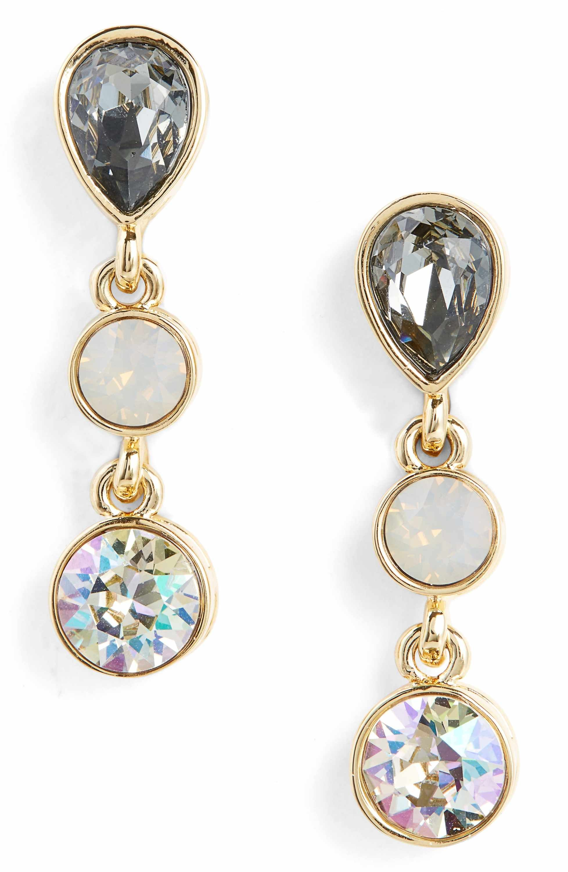 3a0b567b0 On Sale! St. John Collection Swarovski Crystal Statement Earrings ...