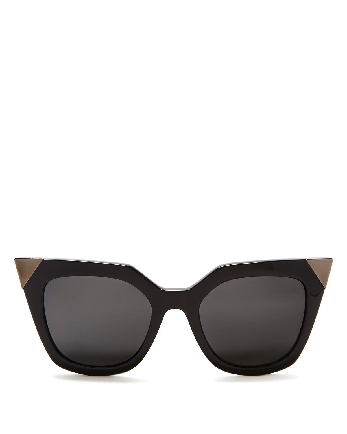f41cb238a Fendi Mirrored Geometric Sunglasses, 52mm | Made in Italy | 100% UV  protection | Zig-zag sides and metal tips at frame corners; logo at sides |  52 mm lens ...