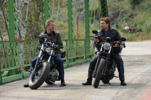 House e Wilson in moto.