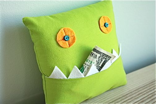 Monster Tooth Pillow with GUEST: The Long Thread   MADE
