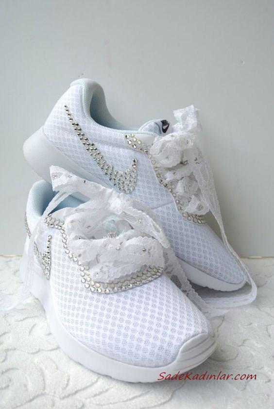 2020 Gelin Spor Ayakkabi Modelleri Nike Tasli Sneakers Gelin Nike Ayakkabilar