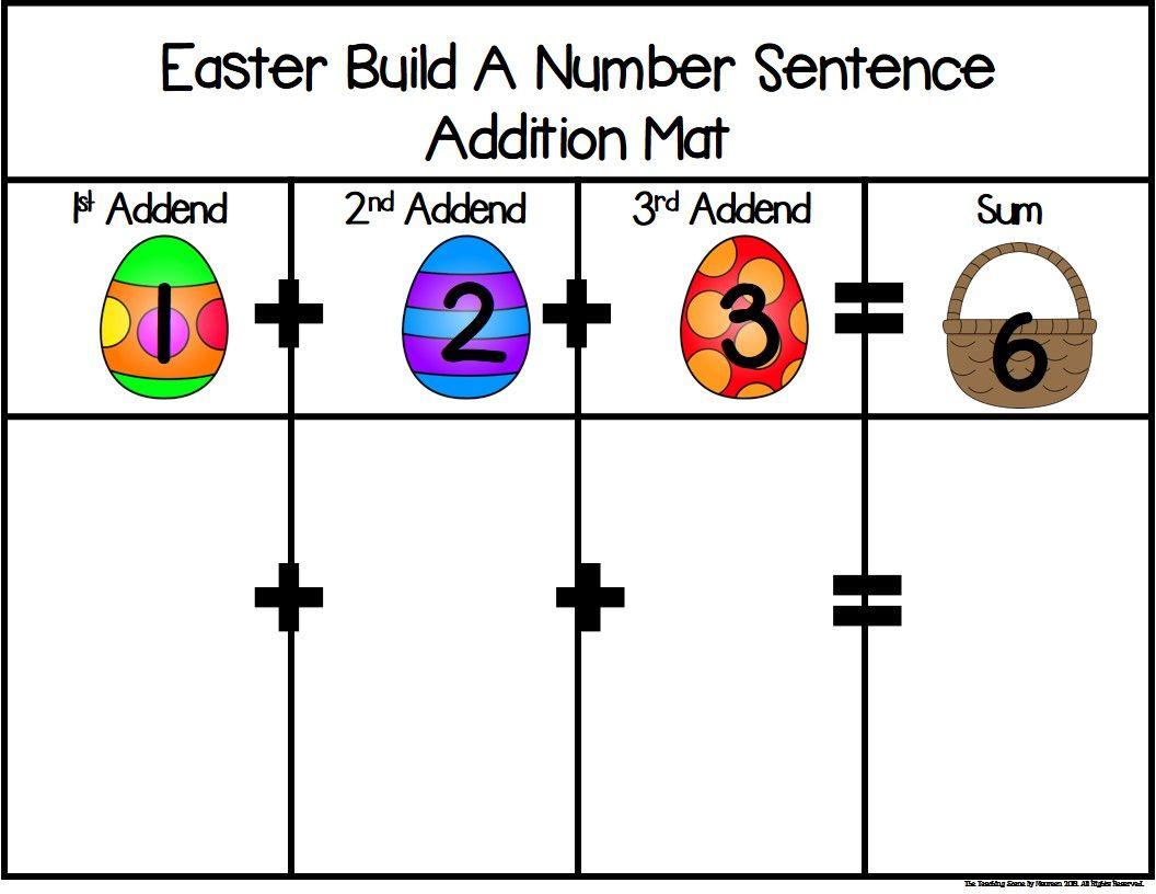 Easter Build 3 Addend Addition Amp Subtraction Number