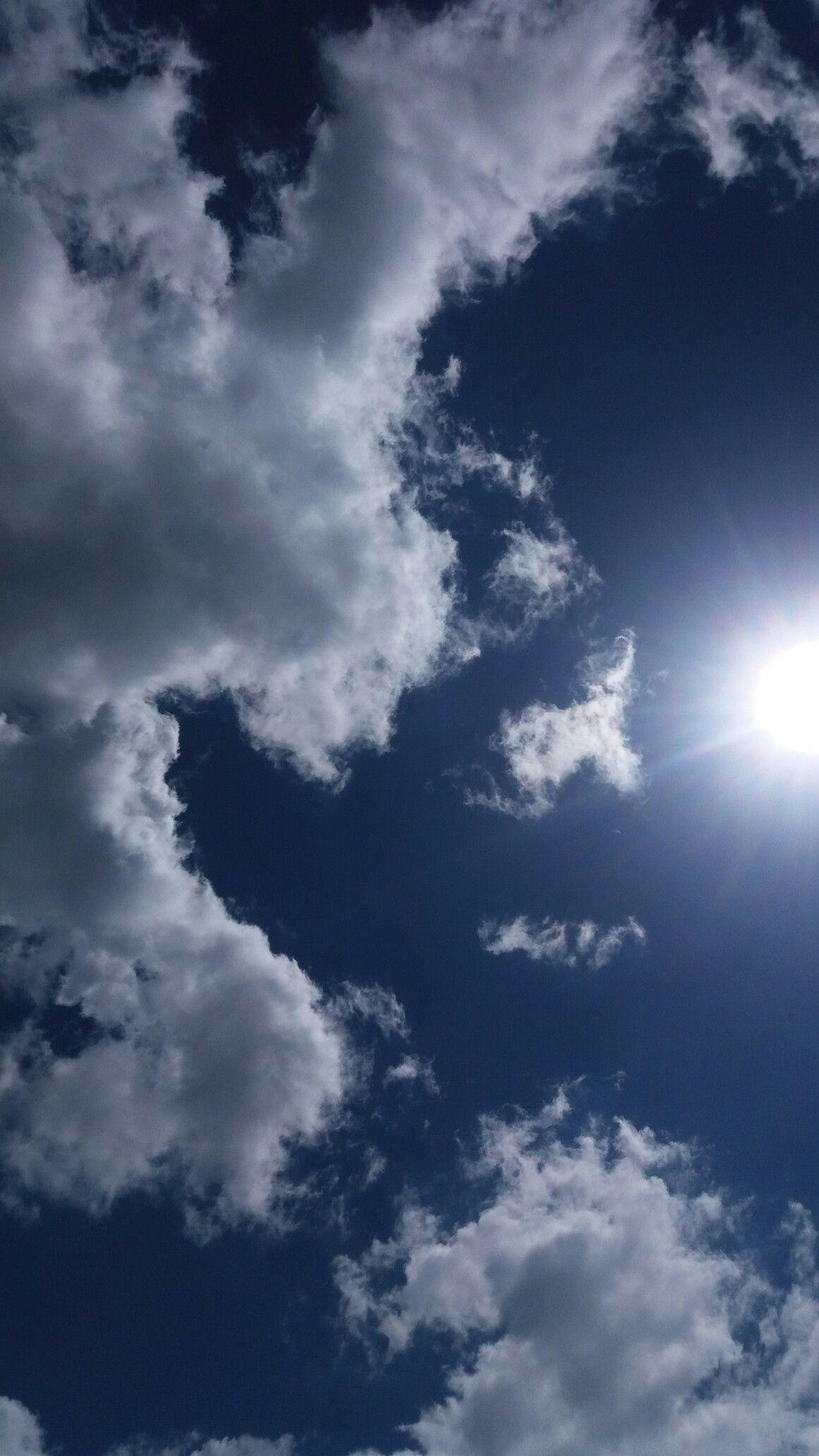 Clouds Blue Backgroundgsm Blue Wallpaper Iphone Sky
