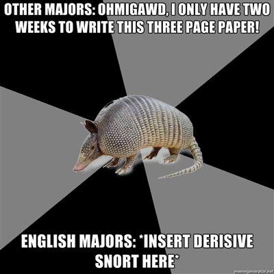 F Ck Yeah English Major Armadillo English Major Humor English Major English Major Problems