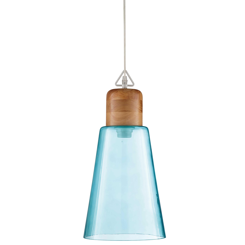 Lámpara de techo de cristal tintado azul D. 22 cm OP ART  7da953e9f1fd