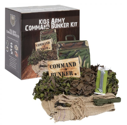 KAS Childrens Military Jungle Explorer Kit Kids Army Play Set Toys Gift Roleplay