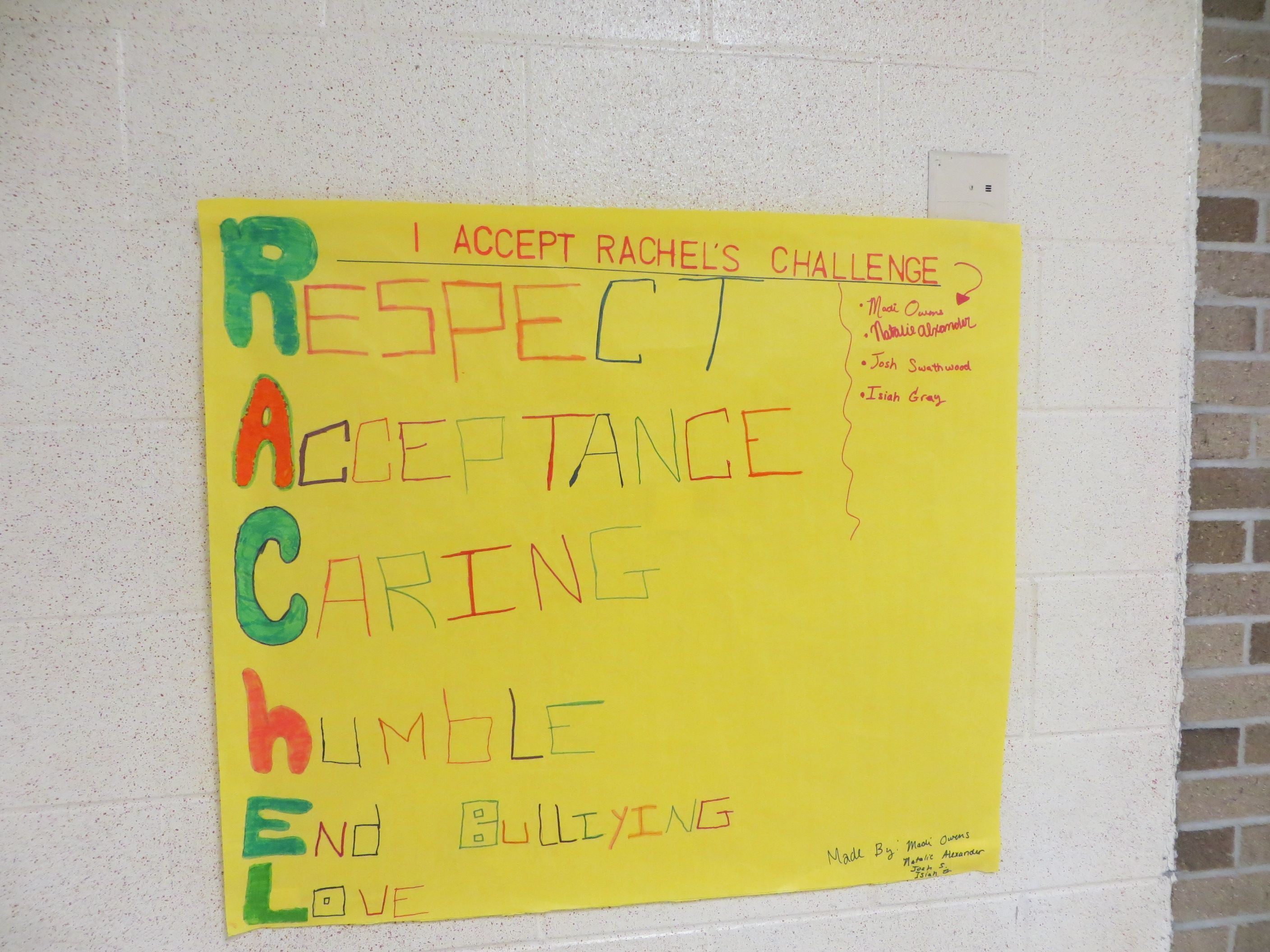 A Clever Poster Using Rachel S Name To Relay An Important