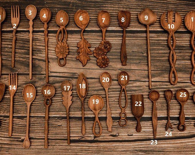 Wooden spoon special edition unique spoon black walnut | Etsy