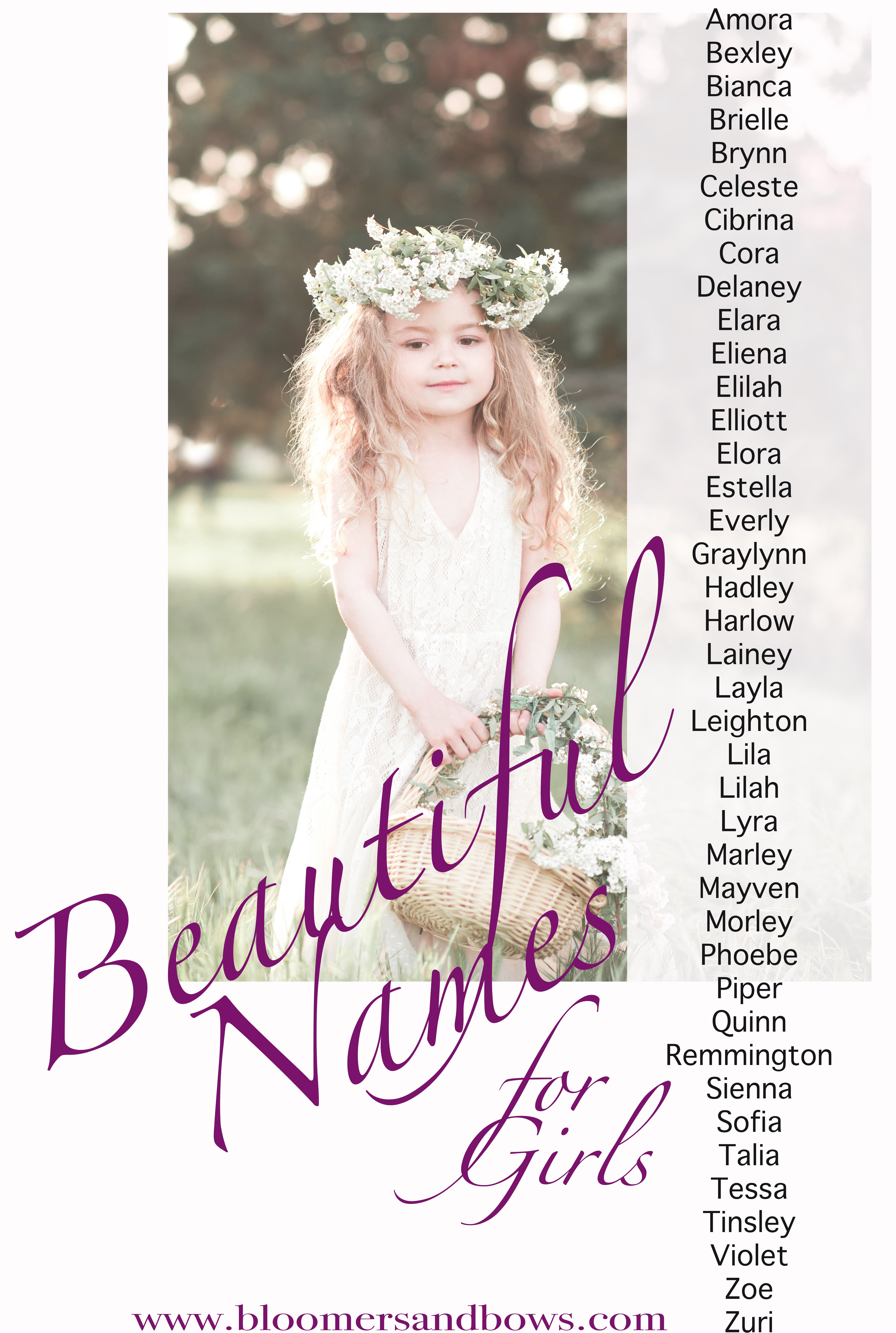 beautiful & unique baby girl names | girls, babies and group