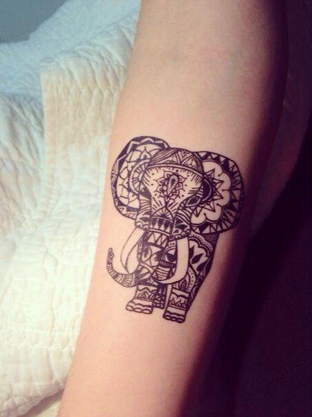 100 awesome animal tattoos mandala pinterest animal tattoos rh pinterest com tribal elephant tattoo ideas tribal elephant tattoos designs