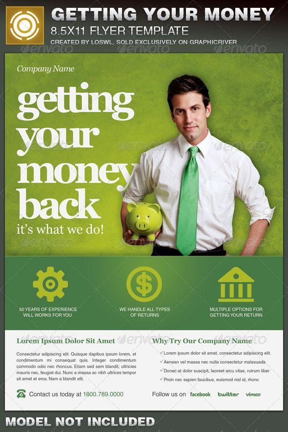 the getting your money back tax flyer template is sold exclusively