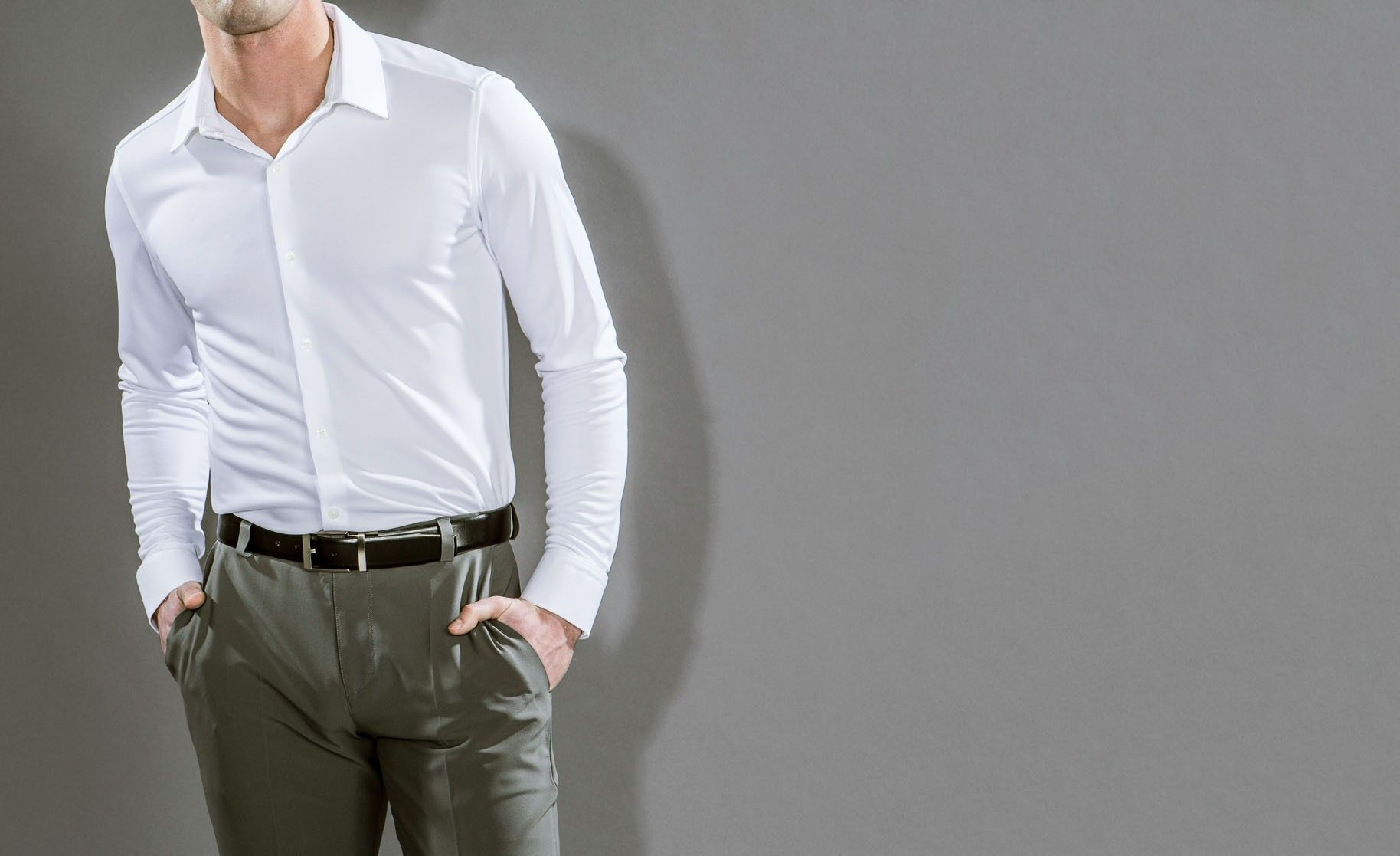 APOLLO 2 DRESS SHIRT. Designed from NASA tech to keep you cool and dry. Hot! Er, cool....