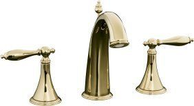 Finial® Traditional Widespread With Ultra-Glide - Bathroom Faucet / French Gold…