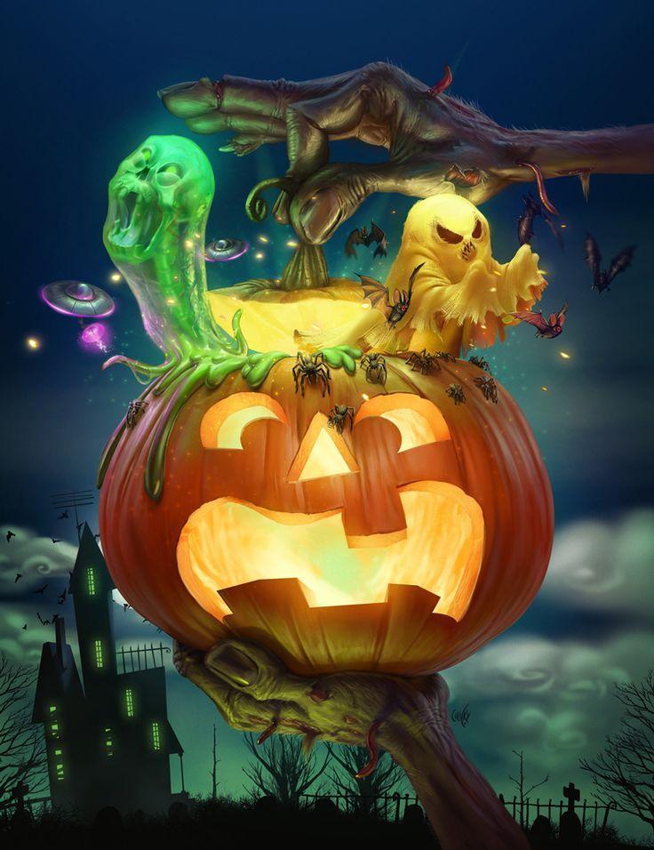 Halloween Cover - Recreio Magazin über Behance   - Dark - Horror -