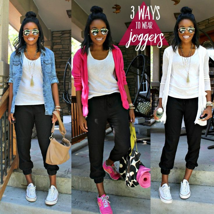 beautiful outfits with joggers and vans