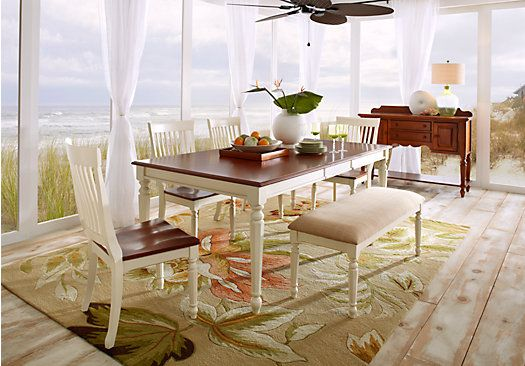 Cindy Crawford Home Ocean Grove White 5 Pc Dining Room W White