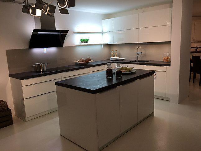 Häcker AV 2030 A466 weiß Hochglanz Lack Hochglanz Lack Küche incl - Küchen Weiß Hochglanz
