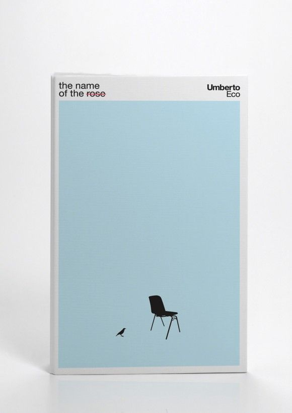Minimalist Book Cover : The name of rose umberto eco design layout
