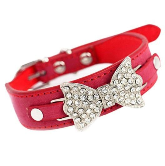 Leather Scarf Bow Pet Collar