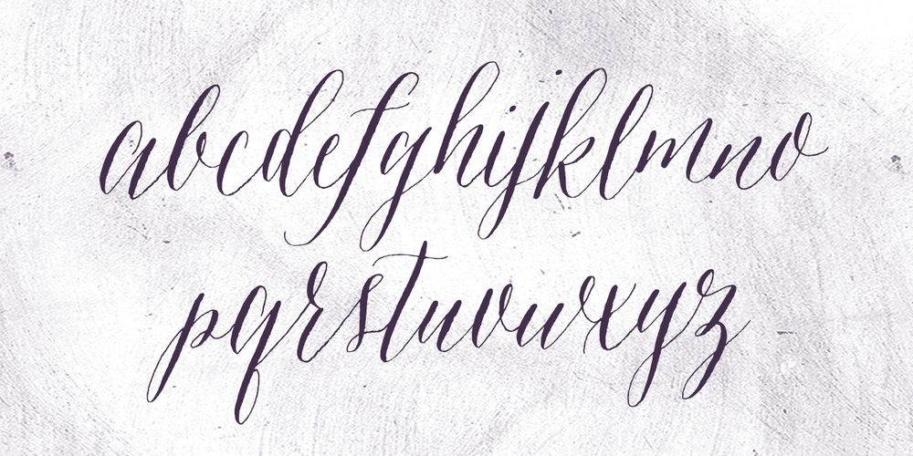 wedding calligraphy font