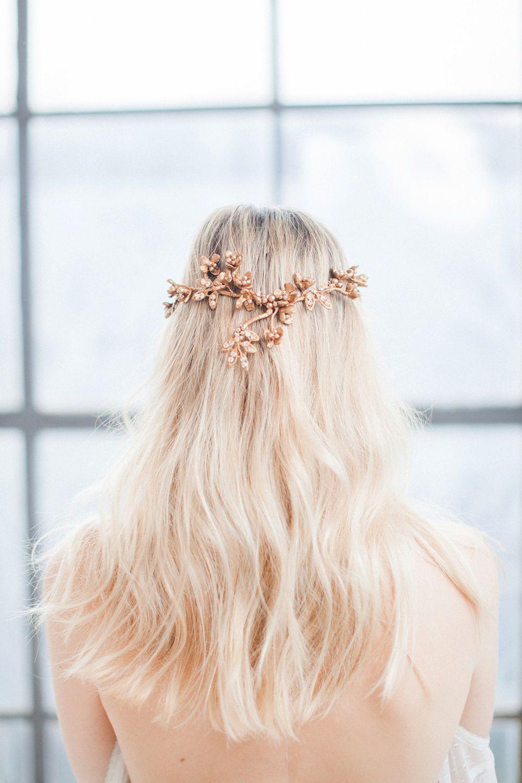 Swoon over jannie baltzer s wild nature bridal headpiece collection - Jannie Baltzer The Wild Nature Collection Gold Hairbridal Headpiecesbridal