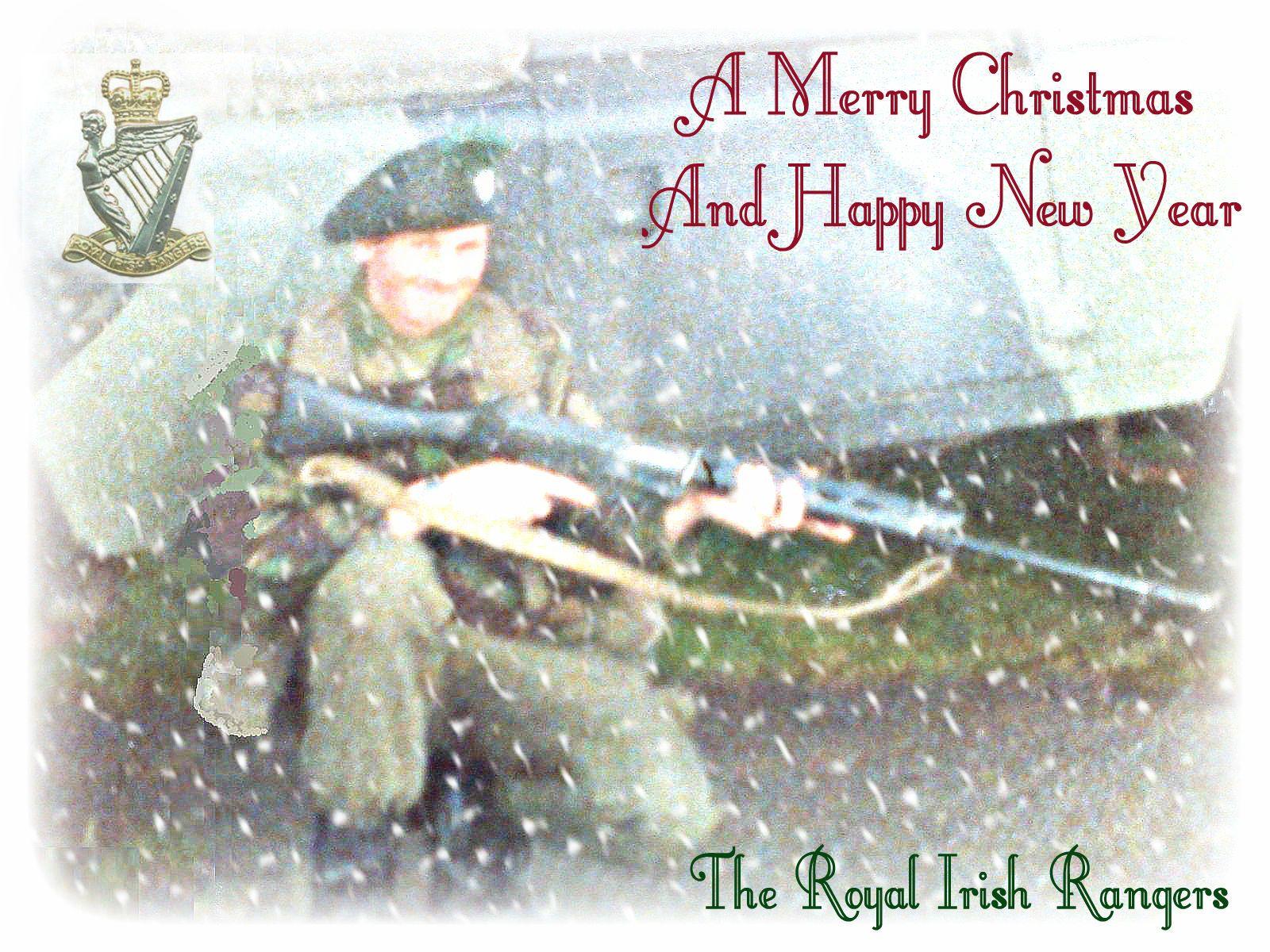 royal irish rangers military christmas card   eBay   british army ...