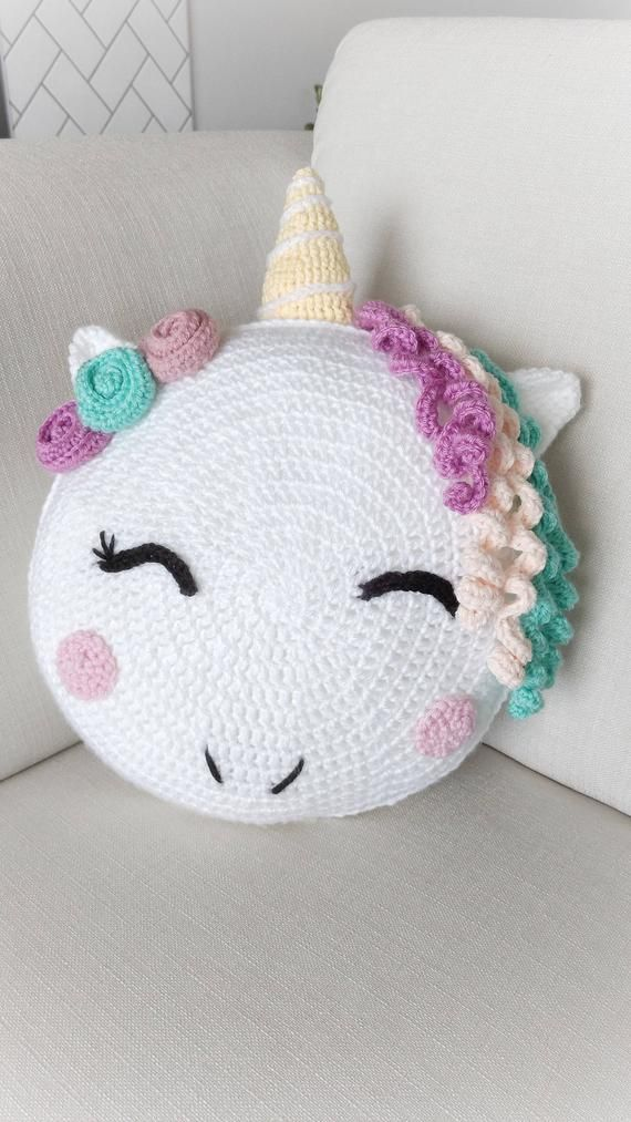 Unicorn/ unicorn gift/ crochet pattern/ unicorn pattern/ knit unicorn/ unicorn room decor/ stuffed unicorn/ pillow pattern/ knit pillow #sewingbeginner