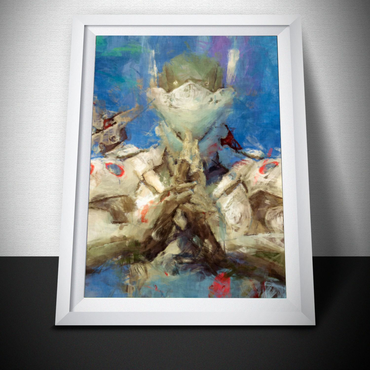 Overwatch Poster. Overwatch Genji praying Painting Print.