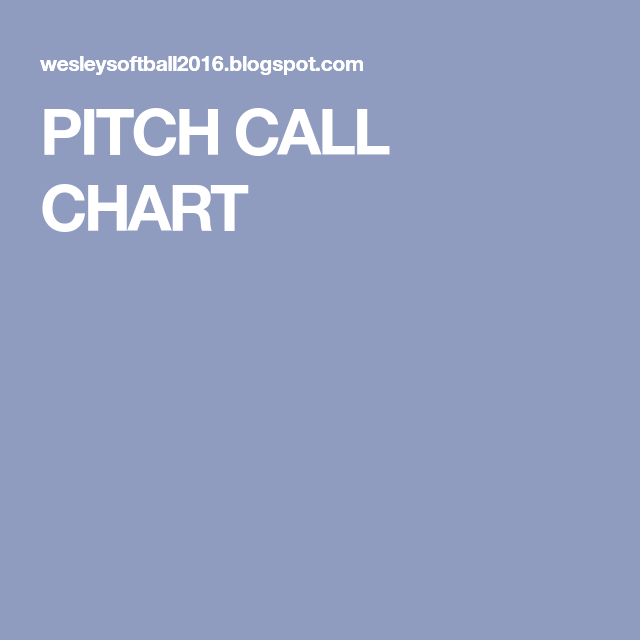 Pitch Call Chart  Softball    Pitch