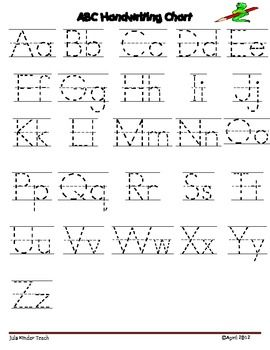 IT IS FREE!!!!! Alphabet Letter Writing Chart:Use these charts with ...