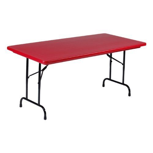 Correll Colorful Blow Molded Plastic Folding Table Adjustable Height 30 W X 60 L By Correll 139 Folding Table Adjustable Height Table Multipurpose Room