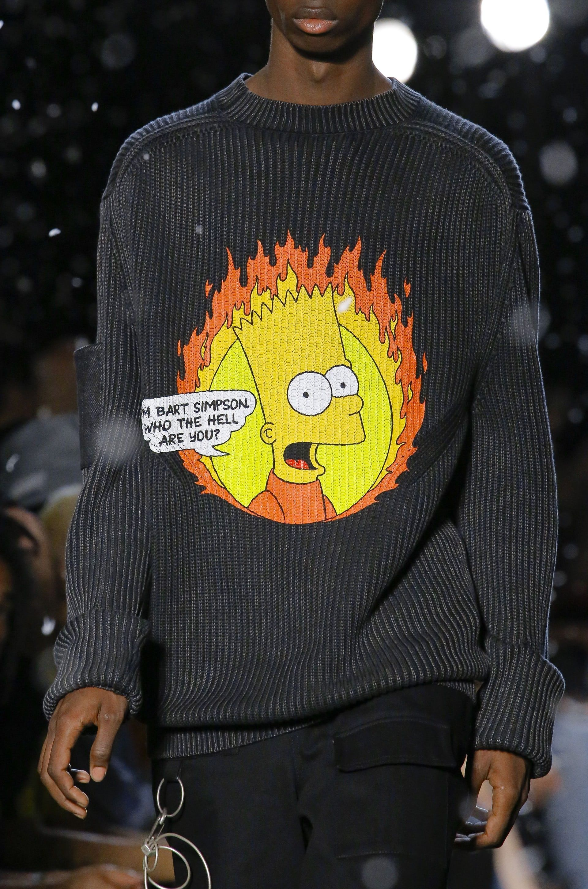 b06a268e8d28 Bart Simpson is Virgil Abloh s unlikely muse at Off-White in Paris ...