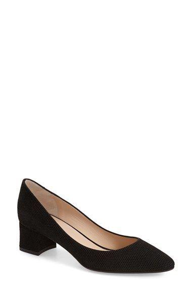 Aquatalia Phoebe Weatherproof Leather Almond Toe Pump OzxPWwf