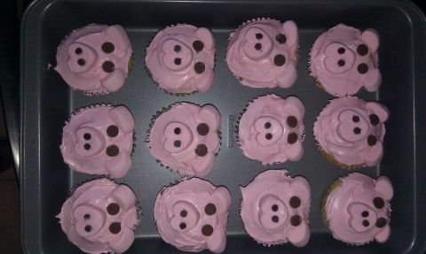 Pig cupcakes for the pig roast!