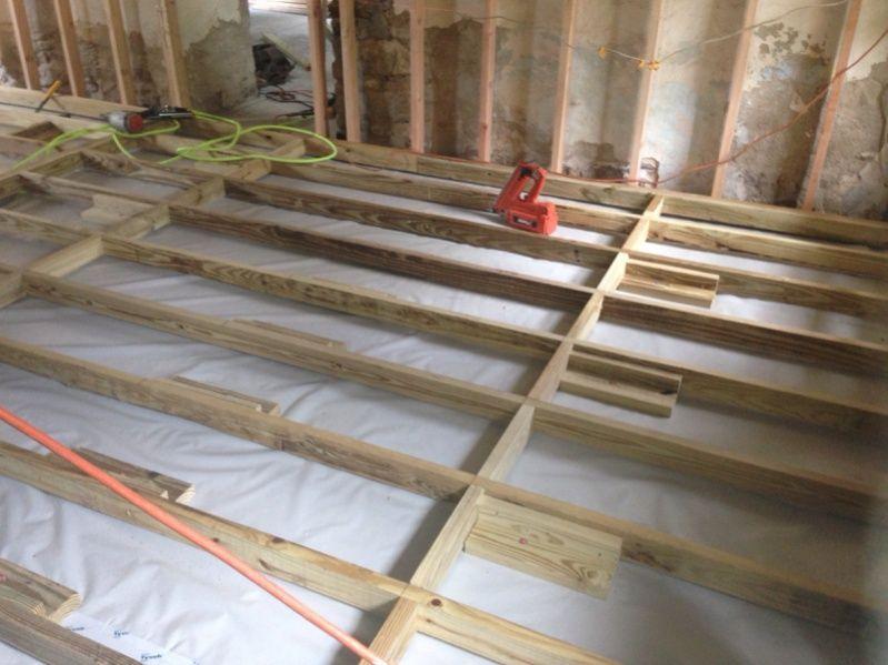 Raised Floor On Concrete Slab Google Search Flooring Concrete Slab Ladder Decor