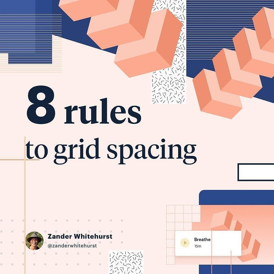 8 Rules To Grid Spacing By Zanderwhitehurst This Article Is Pretty Visual With Handy Examples Of How To Rock An Evenly Spa Grid Visual Website Design