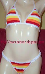 biquini de croche colorido - Pesquisa Google
