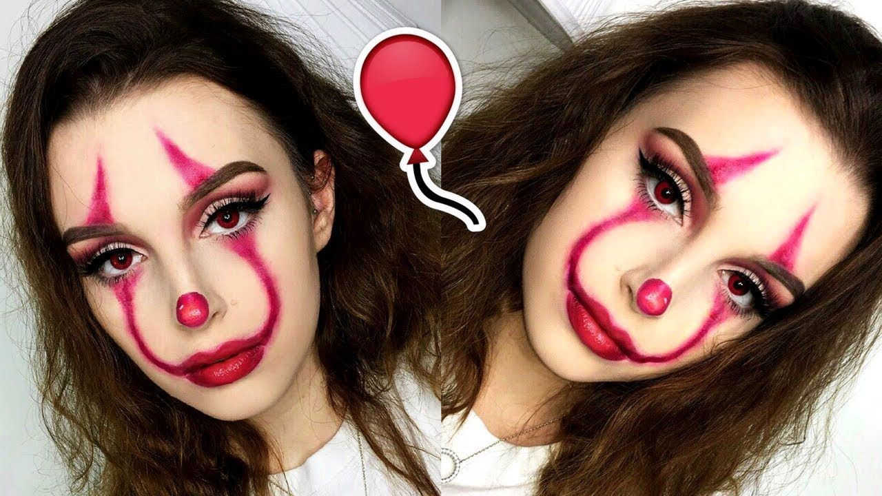 Easy It Pennywise Clown Halloween Makeup Tutorial Easy Clown Makeup Halloween Makeup Easy Cool Halloween Makeup