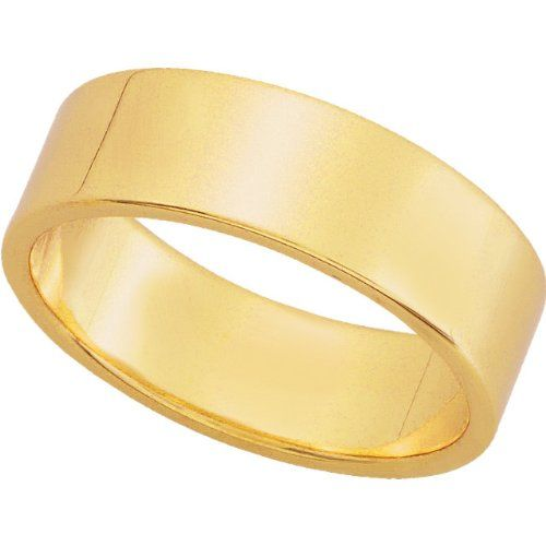 6mm Flat Plain Wedding Band Solid 10karat White Or Yellow Gold Ring Jewelry 280 00 330 00 Plain Wedding Band Yellow Gold Stylish