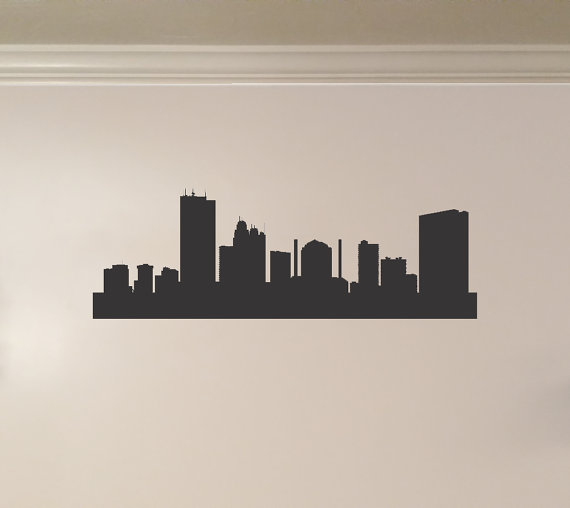 Toledo ohio city skyline interior wall decal by kickinstickers