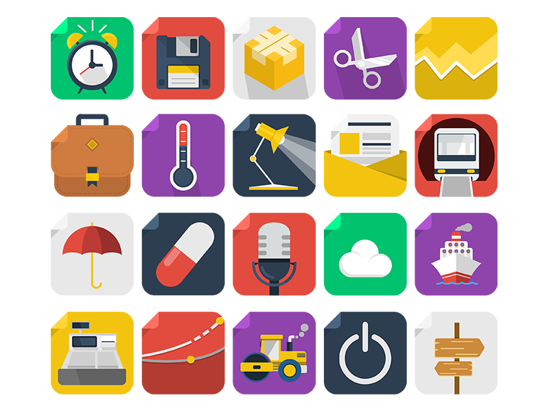 Social Media Square Free Icon Pack 50 Flat Icons Free Icon Packs Social Media Social Media Logos