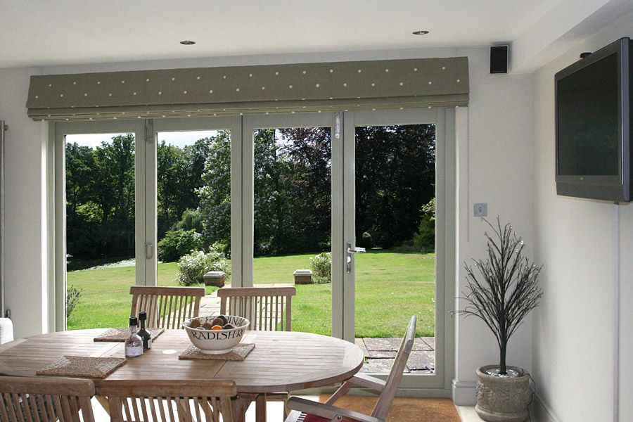 Extra Wide Roman Blinds Blinds For Bifold Doors Living Room