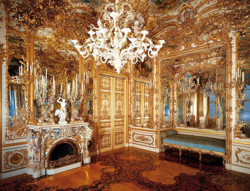 The Blue Salon At Herrenchiemsee Palace In Herreninsel Bavaria Germany Neo Baroque New Palace Palace