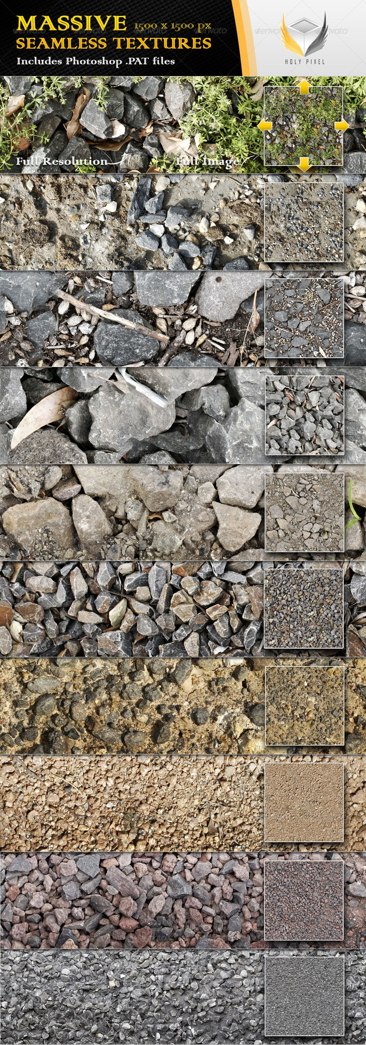 10 seamless gravel and rock textures rock patterns and photoshop 10 seamless gravel and rock textures miscellaneous textures fills patterns baditri Images
