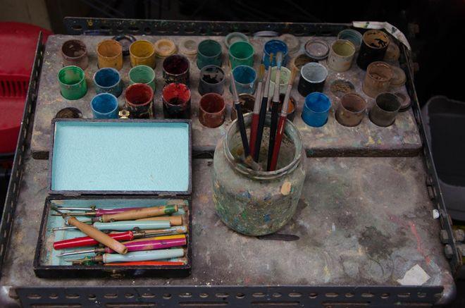nécessaire à peinture pour la tapisserie chez Jules Pansu | France, Ouvrier, Histoire