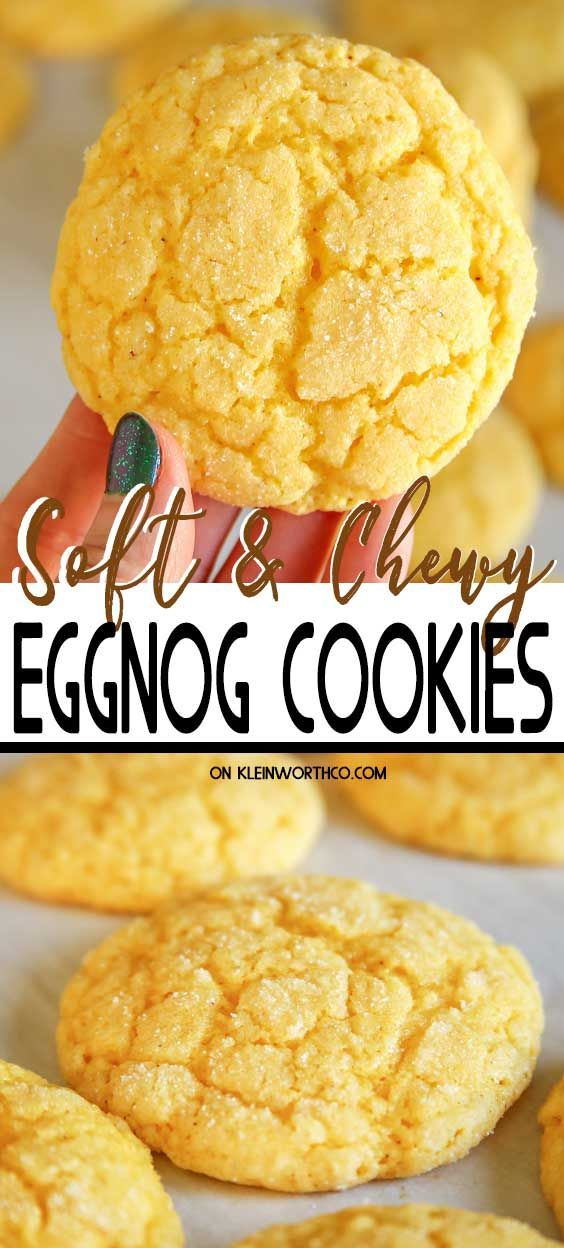 Eggnog Cookies #quickcookies